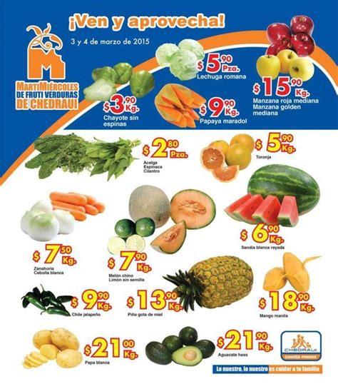 martes y miercoles de frutas y verduras chedraui 28 y 29 de enero chedraui martes y mi 233 rcoles de frutas y verduras 3 y 4 de