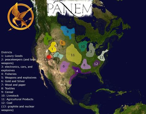 hunger games map themes map of panem hunger games by guido1993 on deviantart