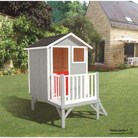 cabane de jardin pour enfant pas cher maisonnette enfant en bois louise cabane sur pilotis pas cher egt