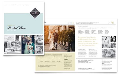 wedding brochure template bridal show brochure template design