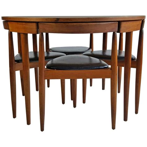 mid century dining room furniture mid century modern dining table four chairs hans olsen