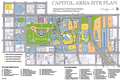 capitol building map virginia dpb map of capitol area large