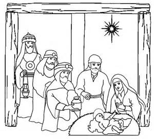 three kings heading to place where jesus was born coloring