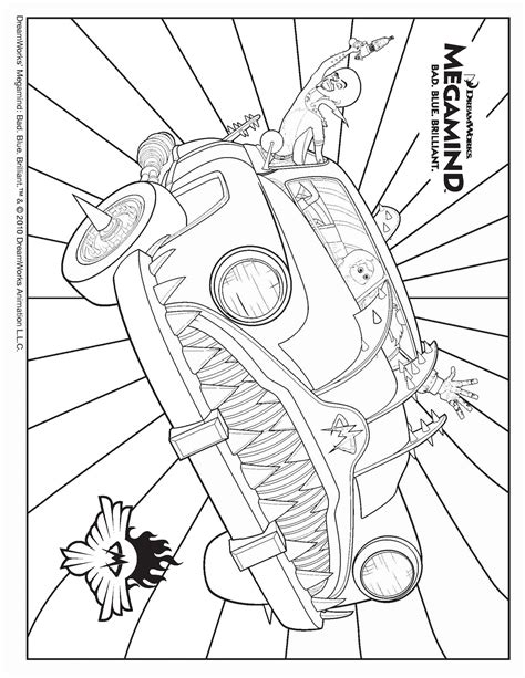 Megamind Coloring Pages Megamind Coloring Pages Printable