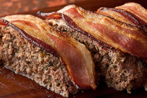 meatloaf recipe bacon cheddar meatloaf recipe chow com