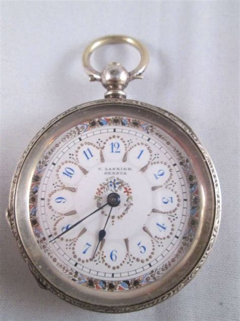 antique silver swiss pocket c lannier