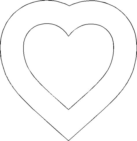 valentine heart template printable