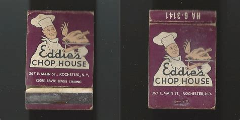 rochester chop house rochestersubway com a collection of rochester matchbooks for sale
