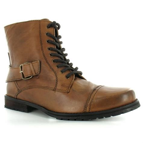 bronx mens boots bronx 43544 mens leather 9 eylet zip buckle boots