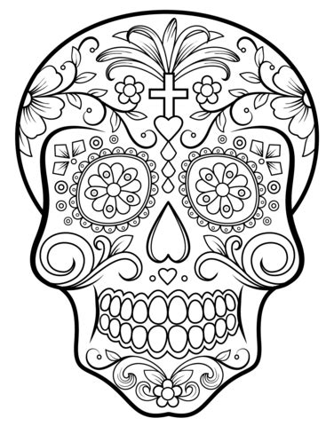 day of the dead animal coloring pages sugar skull coloring page free printable coloring pages