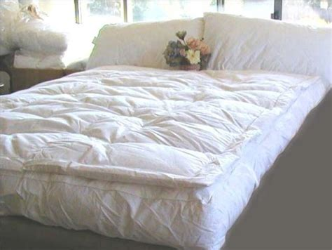 pillow top feather bed cheap discount goose down featherbed online marrikas