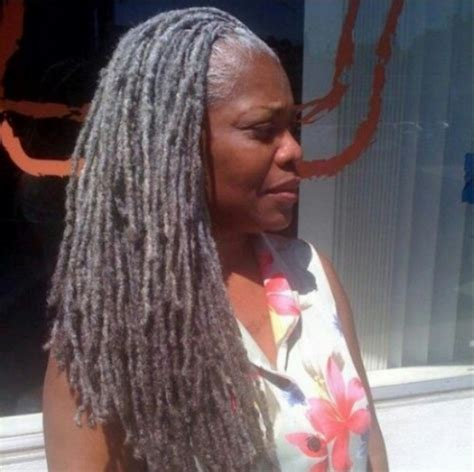 dreadlocks with gray hair long grey gray locs dreadlocks
