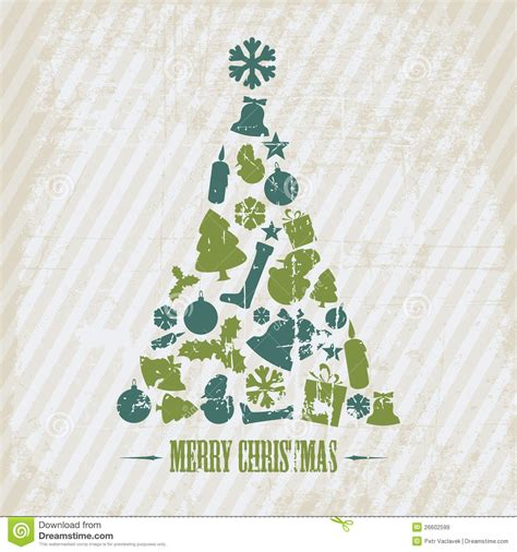 Vintage Vector Grunge Christmas Tree Stock Vector Image 26602599 Vintage Family Tree Royalty Free Stock Images Image 32018779