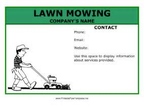 Free Lawn Mowing Flyer Template by Lawn Mowing Flyer