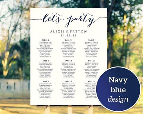 wedding font for seating chart 89 best seating chart templates images on