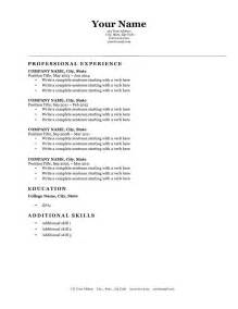 Classic Resume Format by Expert Preferred Resume Templates Resume Genius