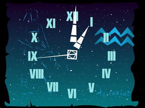 zodiac themes for windows 7 themes wallpaper 7art aquarius clock screensaver