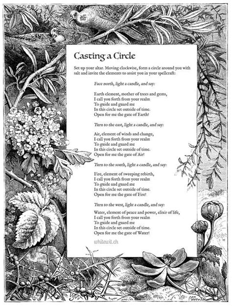 Casting A Circle….(Printable Spell Pages) – Witches Of The