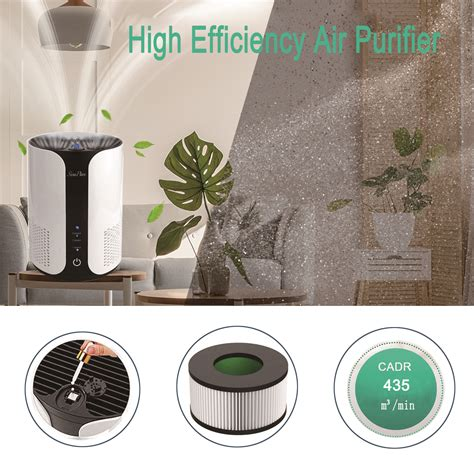 large room air purifier cleaner hepa filter odor dust mold