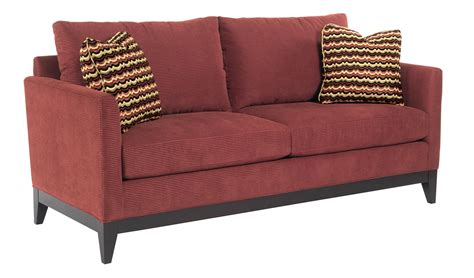 upholstery brooklyn kincaid furniture brooklyn contemporary sofa with exposed