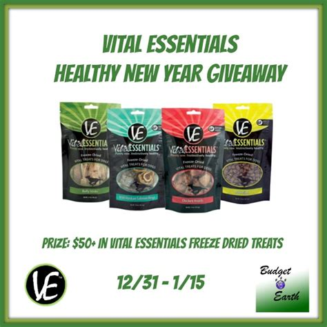 New Year Giveaways - vital essentials healthy new year giveaway