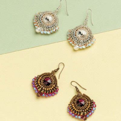 free earring patterns seed free beading patterns you to try interweave