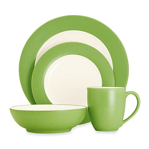 bed bath and beyond dinnerware noritake 174 colorwave rim dinnerware collection in apple