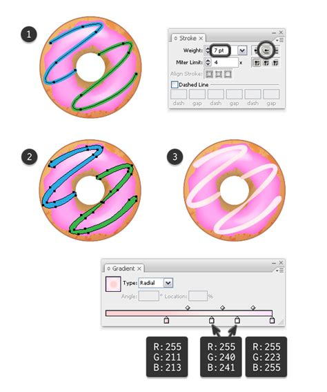 illustrator tutorial donut yummy how to create delicious donut icons in adobe