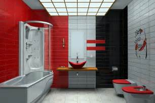 Red And Gray Bathroom - unique images collection multi tile color style modern bathroom