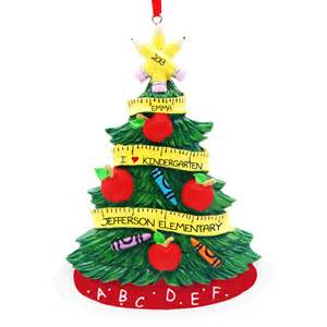 i love kindergarten christmas tree ornament personalized