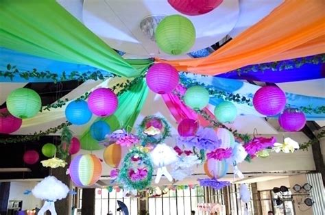 karas party ideas colorful trolls birthday party karas