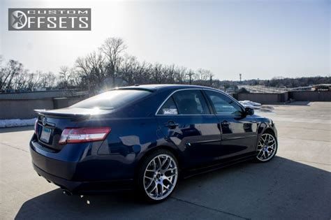 Toyota Camry Wheels Wheel Offset 2011 Toyota Camry Nearly Flush Dropped 1 3
