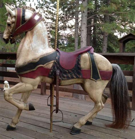 turn   century dentzel standing carousel horse