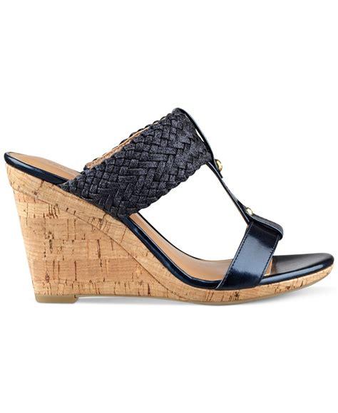 hilfiger wedge sandals hilfiger s eleona wedge sandals in blue lyst
