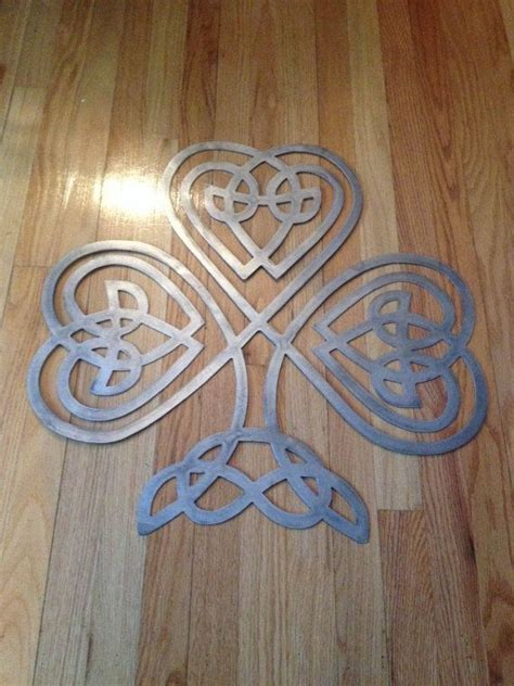celtic home decor metal celtic knot clover wall decor sign art