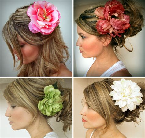 Silk Wedding Hair Flowers by Accent Your Wedding Look With Silk Flower Hair