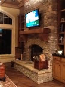 1000 Images About Stone Fireplaces Tv Mounted On