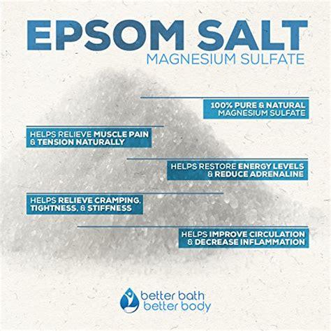 Is Himalayan Salt Or Epsom Salt Better To Detox by Relaxation Bath Soak Epsom Salt With Lavender