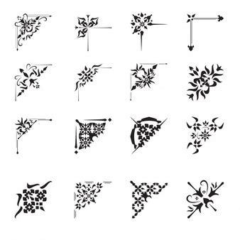 vector conjunto de mano de panader 237 a vintage letras esquina fotos y vectores gratis