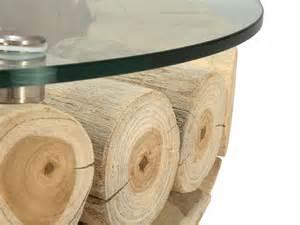 table basse ronde mayne de 80x80 cm en bois de teck pour