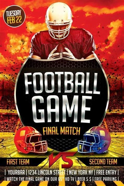 Free Football Flyer Design Templates