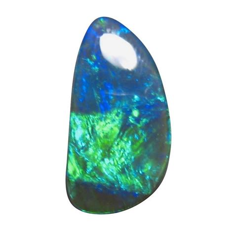 green opal rock 8 25 carat black opal blue green stone free form flashopal