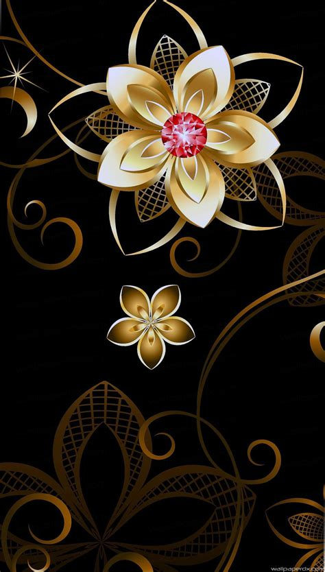 wallpaper hd for android flower 3d golden flower android iphone full hd wallpaper