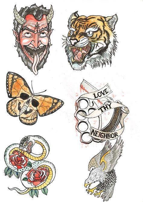 flash tattoo use tattoo flash design 2 by haaki on deviantart