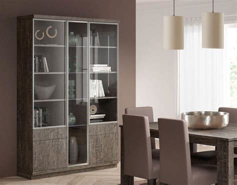 display cabinet with glass doors baixmoduls 3 door contemporary display cabinet with glass