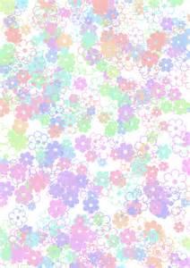 big flower scatter pastel paper