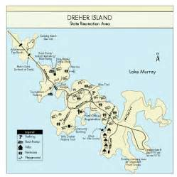 Lake Murray State Park Map by Dreher Island State Park Map Dreher Island State Park