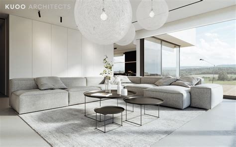 white gray living room two modern minimalist homes that indulge in lots of white interior design ideas howldb