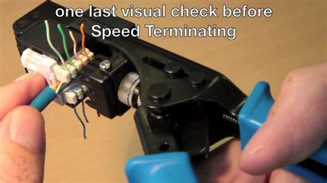 How To Use The Cat 6 Speed Termination Tool Youtube