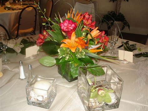 siesta key wedding beautiful tropical theme flowers by
